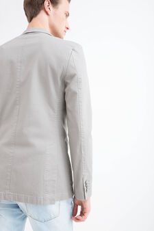Stretch cotton jacket, Grey, hi-res