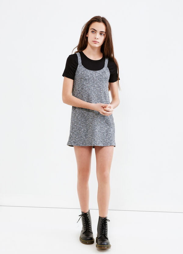 Teen sleeveless mélange dress | OVS