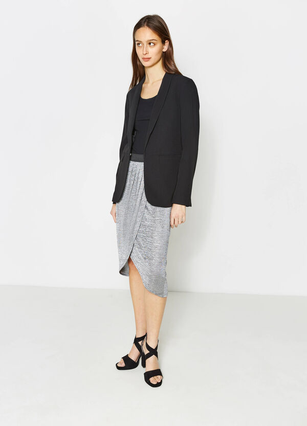 Stretch jersey longuette skirt | OVS