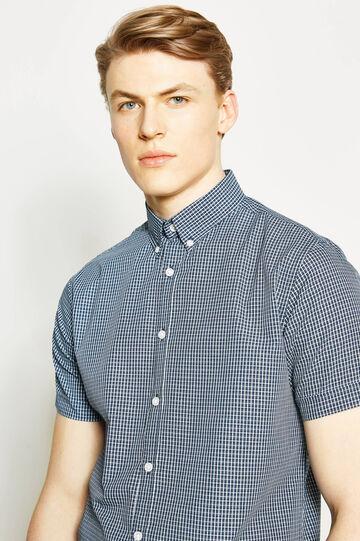 Regular-fit casual shirt with tartan motif