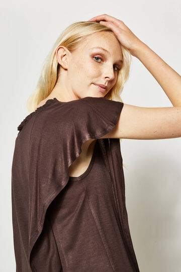 100% viscose T-shirt with flounce