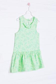 Stretch patterned dress, Green, hi-res