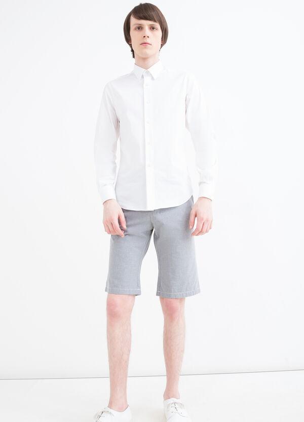 Shorts tinta unita in puro cotone | OVS