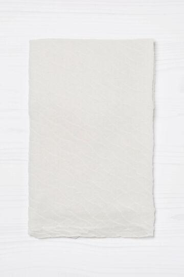Solid colour pleated scarf, Cream White, hi-res