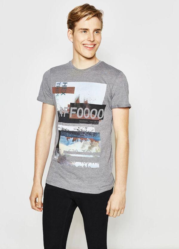 T-shirt cotone e viscosa stampata | OVS