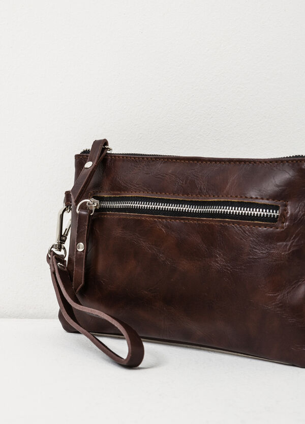 Solid colour clutch with zip | OVS