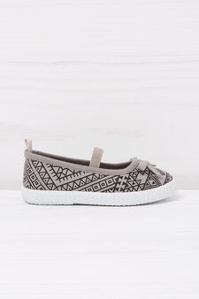 Geometric patterned slip-ons, Grey, hi-res