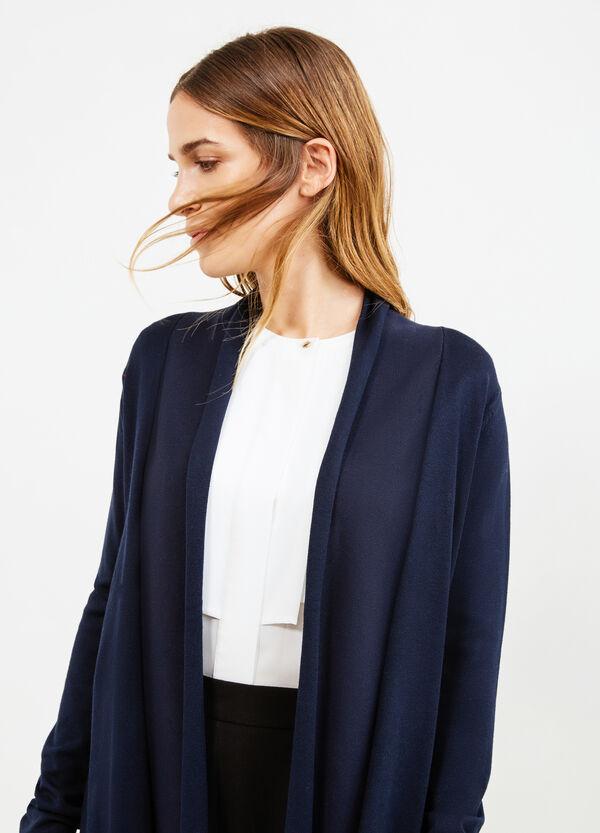 Solid colour viscose blend cardigan | OVS