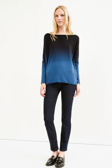 Wool blend degradé pullover, Denim Blue, hi-res