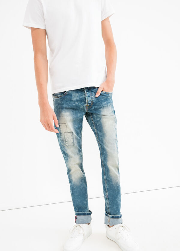 Misdyed effect slim-fit stretch jeans | OVS