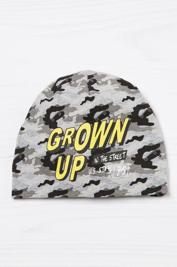 Camouflage beanie cap., Grey, hi-res
