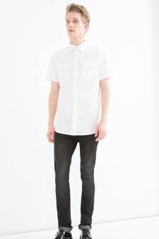 G&H button shirt in 100% cotton, White, hi-res