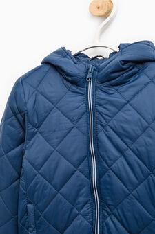 Hooded jacket, Navy Blue, hi-res