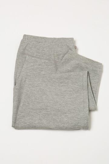 Pyjama trousers with pockets, Grey Marl, hi-res