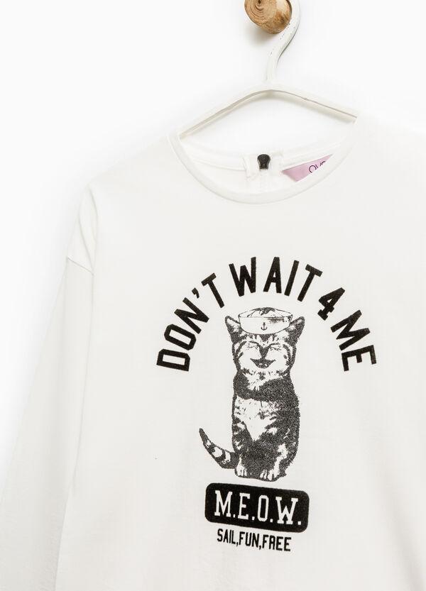 T-shirt puro cotone zip su retro | OVS