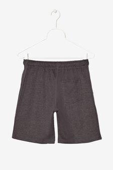 Pantaloni corti con stampa, Nero, hi-res