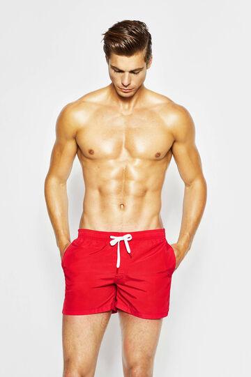 Beach shorts with drawstring