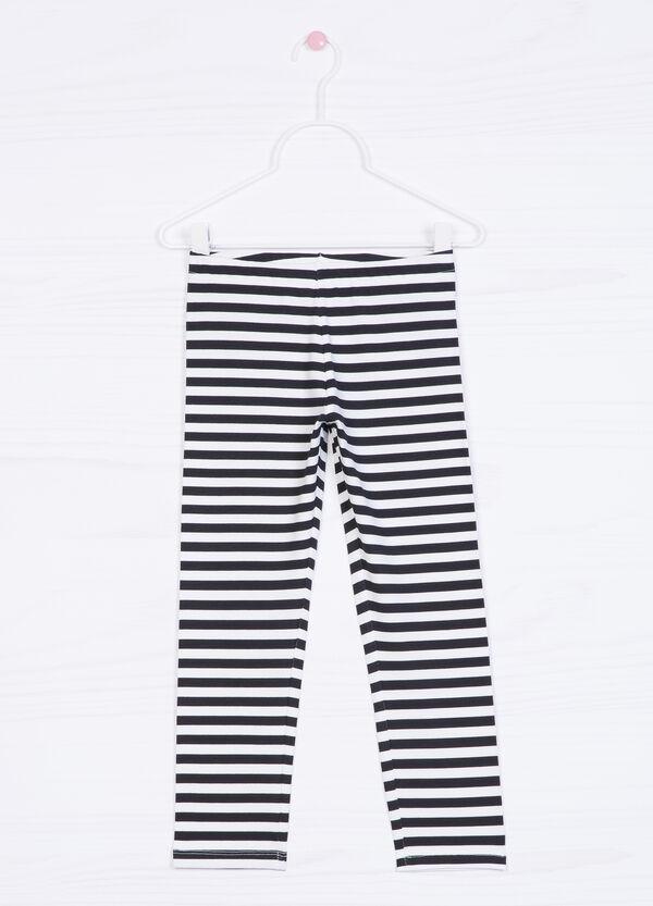 Leggings cotone stretch stampa | OVS