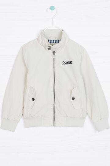 Solid colour cotton blend jacket, Ice White, hi-res