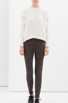 Pantaloni in cotone stretch regular fit, Verde, hi-res