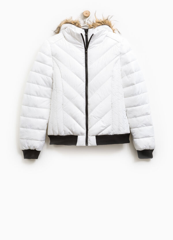 Bomber jacket with faux fur hood | OVS