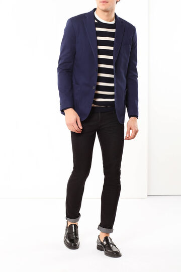 Slim fit, stretch cotton jacket