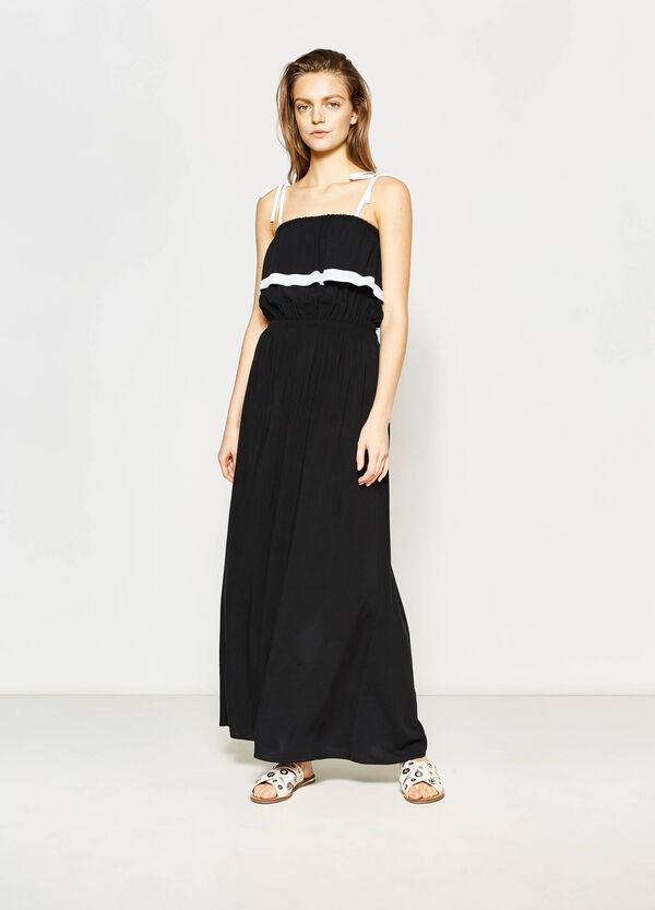 Long empire dress with flounces | OVS
