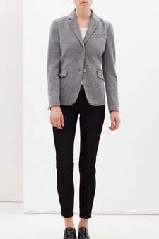 Stretch viscose blend jacket., Light Grey, hi-res