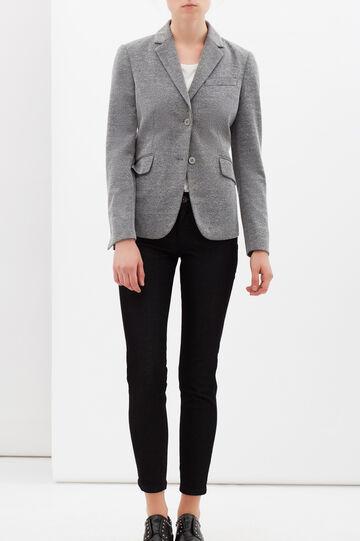 Stretch viscose blend jacket., Light Grey, hi-res