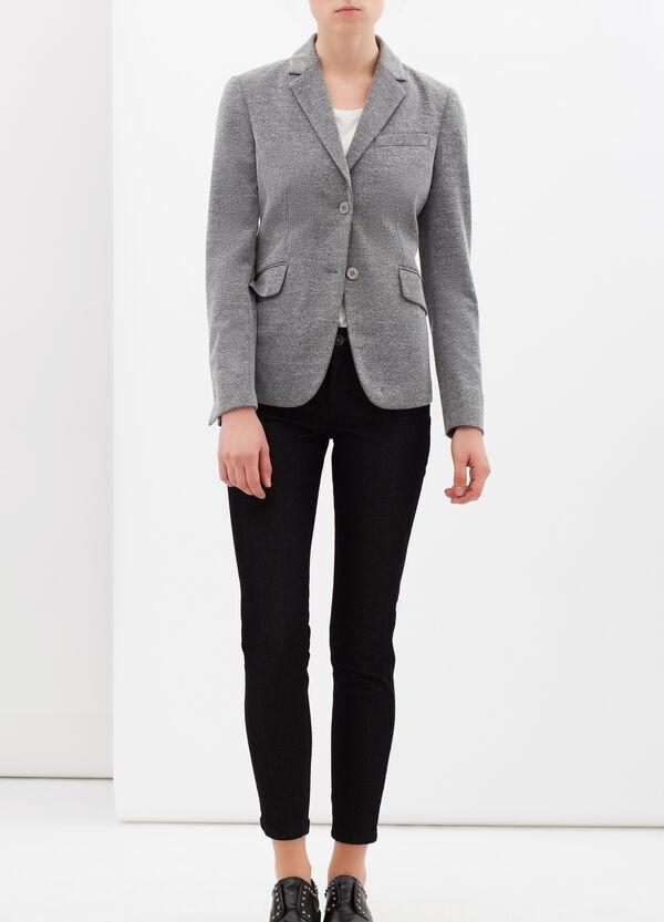 Stretch viscose blend jacket. | OVS