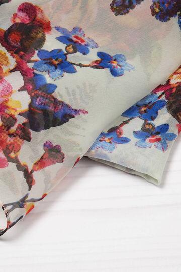 Sciarpa in viscosa stampa floreale, Multicolor, hi-res