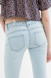 Slim-fit stretch jeans with zip, Soft Blue, hi-res