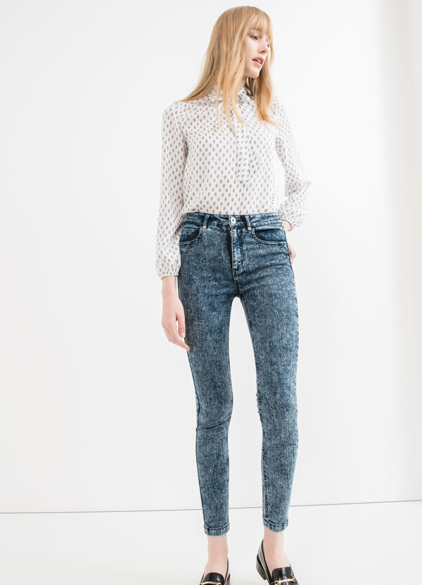 Misdyed-effect jeans with zip | OVS
