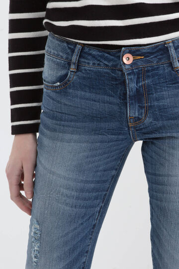 Stretch ripped jeans with skinny fit, Blue, hi-res