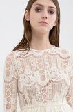 Semi-sheer lace dress, , hi-res