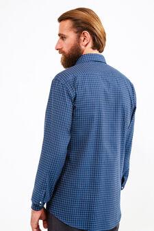 Camicia formale regular fit quadri, Blu scuro, hi-res