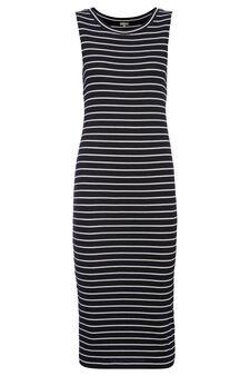 Smart Basic long striped dress, Black/White, hi-res