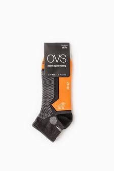 Set due paia calze stretch OVS Active Sport Training, Arancione fluo, hi-res