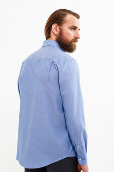 Regular-fit striped formal shirt, Dark Blue, hi-res