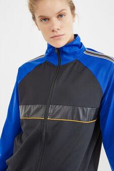OVS Active Sport Training sweatshirt, Black/Blue, hi-res