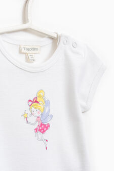 Two-pack printed cotton bodysuits, White, hi-res