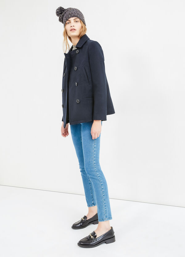 Coat with asymmetrical opening | OVS