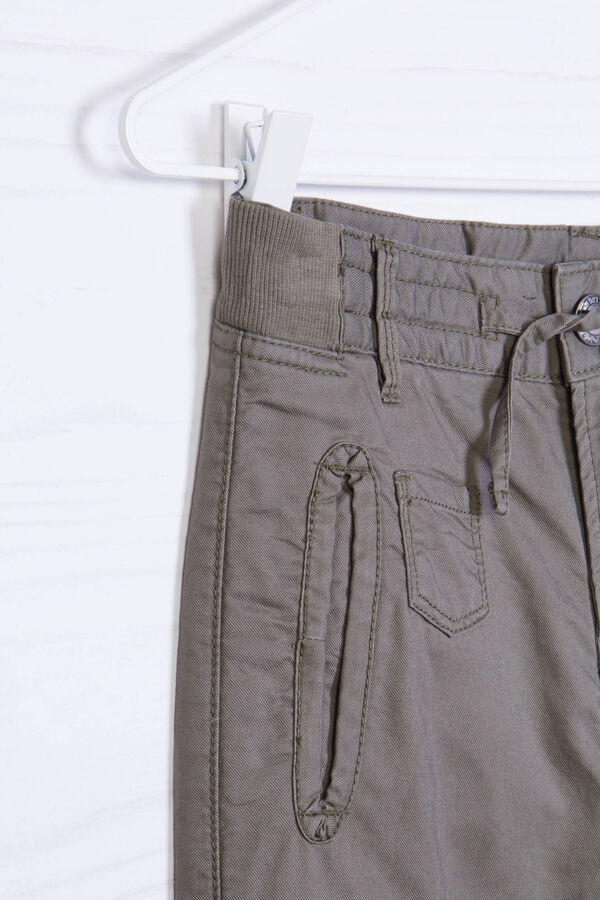 Trousers in 100% cotton with drawstring | OVS
