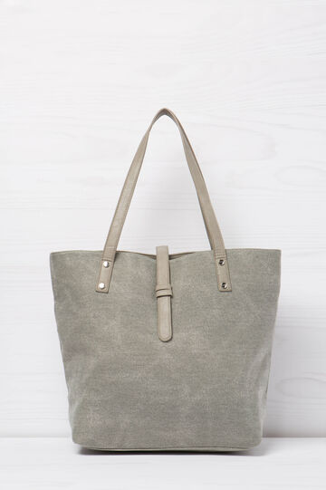 Shoulder bag with pouch, Grey, hi-res