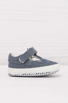 Sandali di jeans con strappo singolo, Denim, hi-res