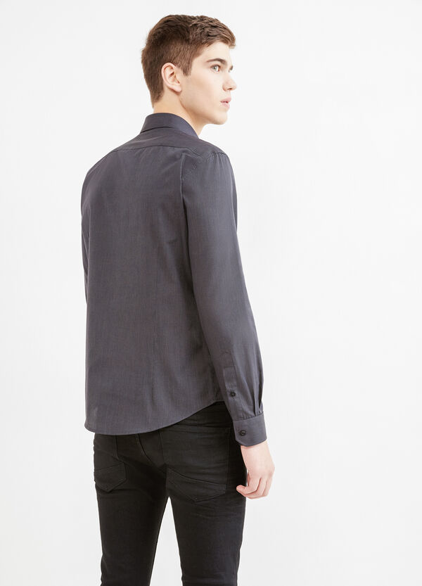 Casual shirt with micro-stripe pattern | OVS