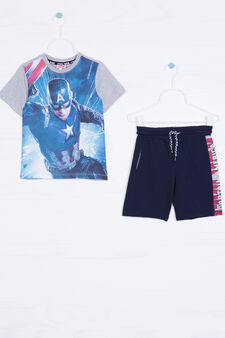 Captain America outfit in 100% cotton, Grey/Blue, hi-res