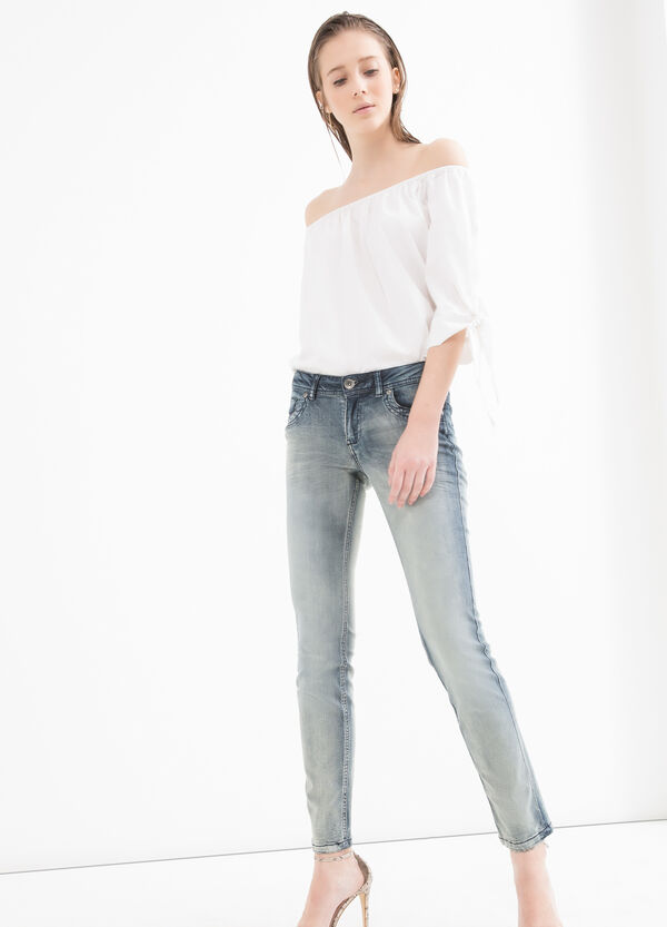 Jeans stretch slim fit effetto used | OVS