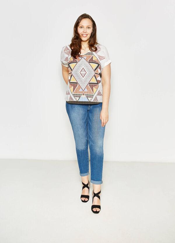 T-shirt maxi stampa etnica Curvy | OVS