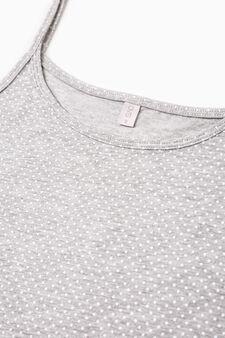 Two-pack plain and printed tops, Grey, hi-res
